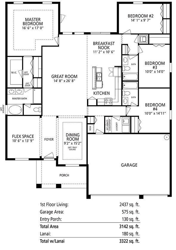 The Sierra V By Maronda Homes Offers 4 Bedrooms, 3 Bathrooms, A Gourmet  Kitchen, And 3 Car Garage.